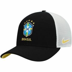 Nike Brazil National Soccer Team Black Hat Cap New
